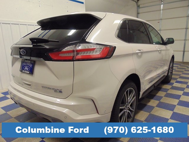 New 2019 Ford Edge Titanium White Awd For Sale In Rifle Co